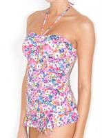 Baku Spring Valley Frilled (Halter/Strapless) One Piece
