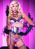 Leg Avenue Burlesque - Alluring Set - 3 Piece