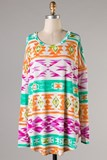 Orange Multi Aztec Print Tunic