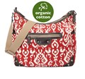 OIOI NAPPY BAG-HOBO-IKAT TAPESTRY-POMPEIAN RED