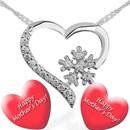 Anneler Günü Özel Kalp Gümüş Kolye - HAREM