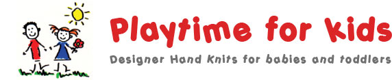 Playtime for kids - Designer Hand Knits for babies and toddlers