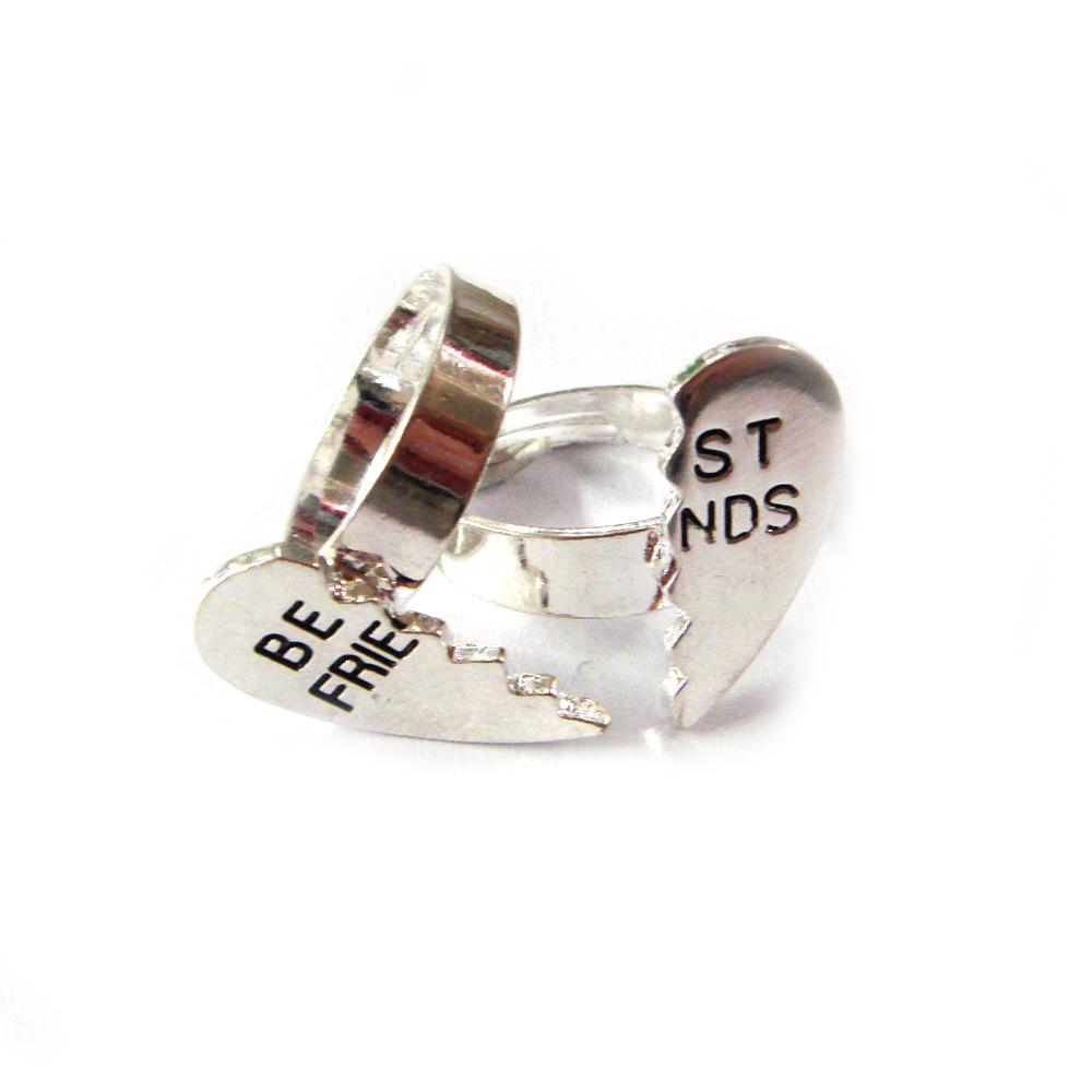 Pair Of Best Friends Rings - Adjustable Size
