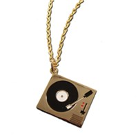 Record Player/Decks Necklace-As Seen In Heat Magazine!