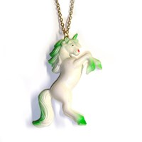 Huge Unicorn Necklace As Seen In Look Magazine & On Eliza Doolittle