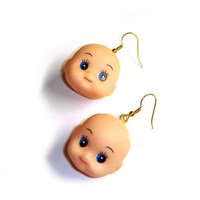 Kitsch Doll Head Earrings