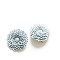 Huge Chrysanthemum Stud Earrings
