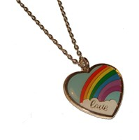 Love Heart Rainbow Necklace was £5 now £4
