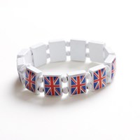 Union Jack Stretchy Tile Bracelet