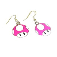 Retro Gamer Mushroom Earrings