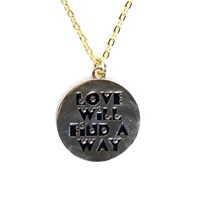 Love Will Find A Way Golden Love Token Necklace As Seen on Una from the Saturdays