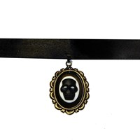 Gothic Skull Choker Necklace