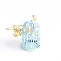 Empty Birdcage Necklace