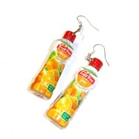 Miniature Bottles Of Fruit Juice Earrings