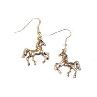 Silver Toned Horse Earrings