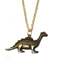 Bronze Dinosaur Necklace