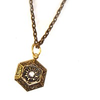 Byzantine Style Locket In Antique Gold