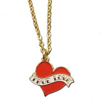 True Love Tattoo Style Heart Necklace - As seen in OK Magazine!