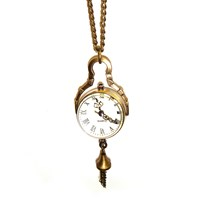 Mini Glass Ball Watch Necklace