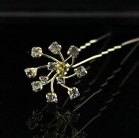 Gold Diamonte Cluster Hair Pins, Pack of 6, 4179