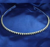 1 Row Diamonte Silver Hair Band, 4131