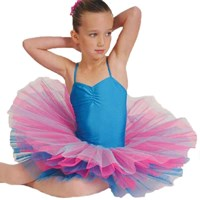 CLEARANCE, Poppie Tutu, Turquoise/Bubble Gum Pink, Girls sizes