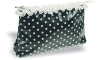 Toiletries Purse, Black/White  26cm x 15cm x 6.5cm