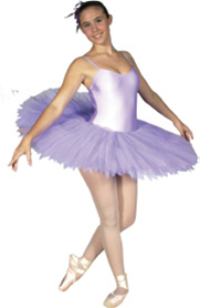 Feathered Performance Tutu, Pancaked,  Ladies, White (Mauve pictured)