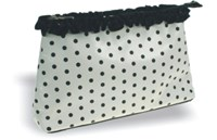 Toiletries Purse, Cream/Black  26cm x 15cm x 6.5cm
