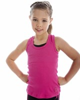 Energetiks Action Back Cotton Rib Singlet, Childs, CC31 (Budget Range)