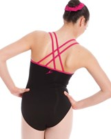 Energetiks Contrast Double Strap Leotard, Ladies, AL33