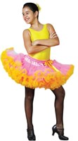CLEARANCE, Short Pettiskirt , Girls, Pink/Yellow, As Pictured,(Leotard sold separately, Bow not included)