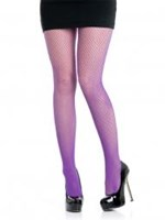 CLEARANCE, Fishnet Pantihose, neon purple