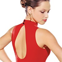 CLEARANCE, Sodanca High Neck Leotard with split back, RED