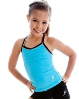 Energetiks Piped Cross Back Singlet, Childs, CC06