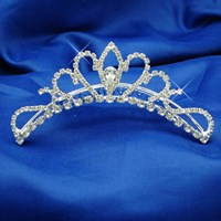 Contoured Tiara, Colours: Silver, Gold, 4005