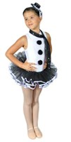 Snowman or Pierrot Clown Costume, Girls  
