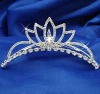 Contoured Tiara, Colours, Silver, Gold, 4001