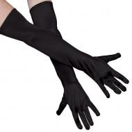 Long Black Gloves, 54cm long