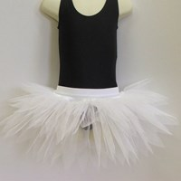 Funky Feathered Skirt, Adults sizes, Solid White, (As pictured) 
