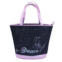'Dance' Diamante Tote Bag, Black/Pink