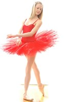 Ladies Red Swan Tutu
