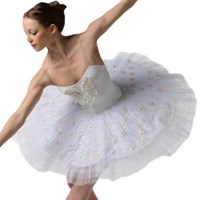 White pearl Tutu, Pancaked, Girls (As Pictured)
