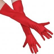 Long Red Gloves, 54cm long