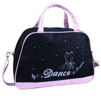 'Dance' Diamante Medium Bag, Black/Pink