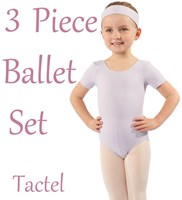 Girls 3 Piece Ballet Set, (2 Colours) TACTEL