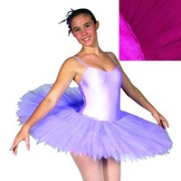Feathered Performance Tutu, Pancaked,  Girls, Orchid (Colour shown in Insert)
