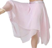 SPECIAL, Hanky Skirt with plain Lycra waistband, Childs sizes, White (Pink,hologram band pictured)