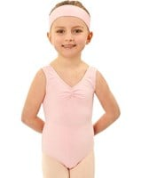 Studio 7 Gathered front Leotard, Girls sizes,  (7 Colours)