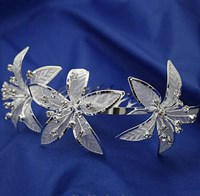 Flower Tiara, Silver, 4269